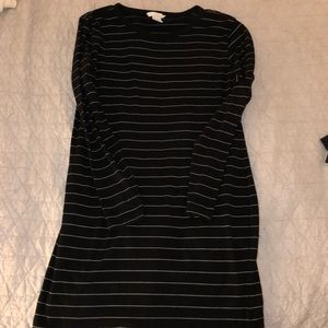 Striped Fitted Long Sleeve Dress